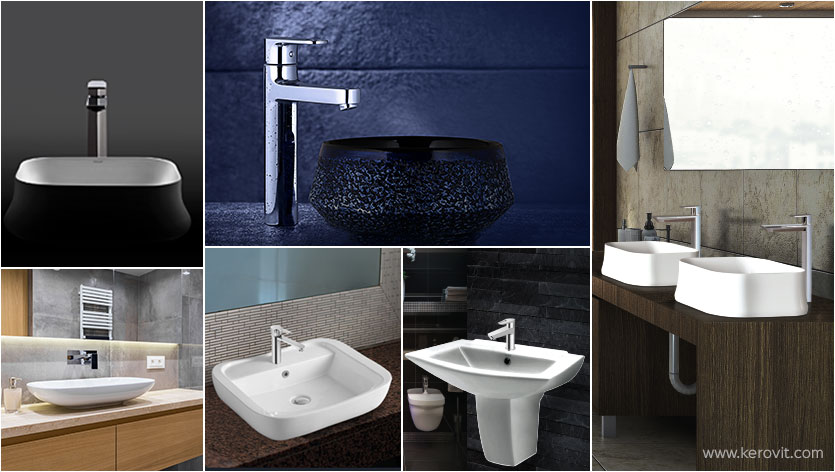 types of washbasin