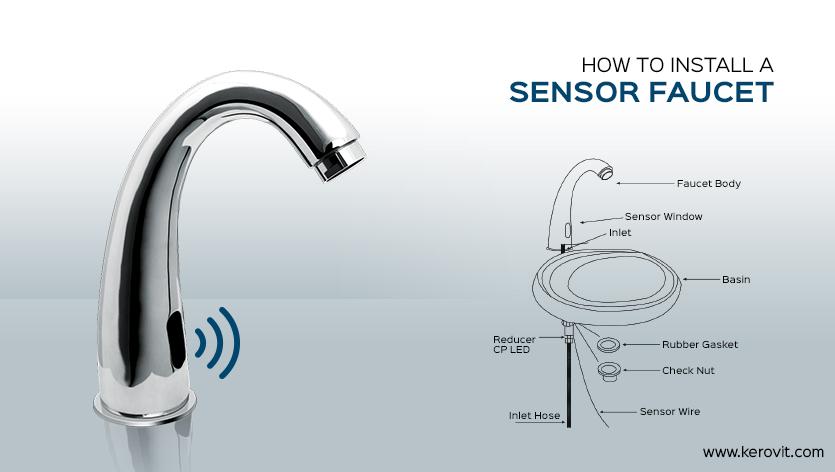 how to install sensor faucet